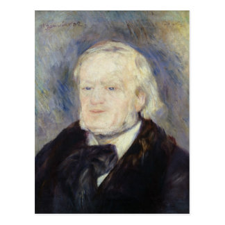 Portrait of Richard Wagner  1882 Postcard