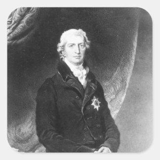 Portrait of Robert Banks Jenkinson Square Stickers