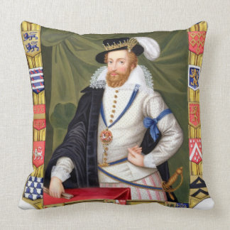 Portrait of Robert Dudley (c.1532-88) Earl of Leic Throw Pillow