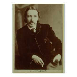 Portrait of Robert Louis Balfour Stevenson (1850-9 Postcard