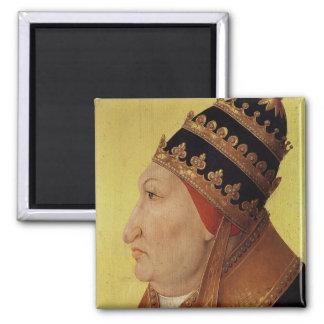 Portrait of Rodrigo Borgia  Pope Alexander VI Square Magnet