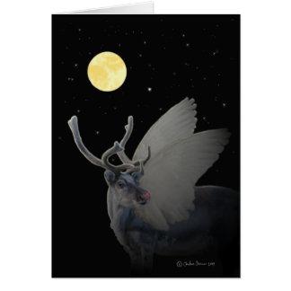 "Portrait of ""Rudolf In The Moonlight"" Card"