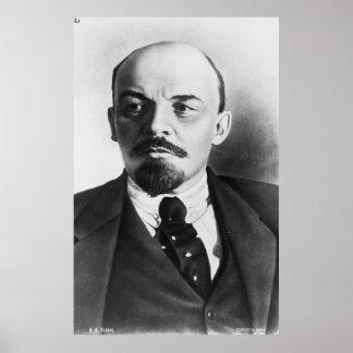 Portrait of Russian Vladimir Ilyich Lenin Poster