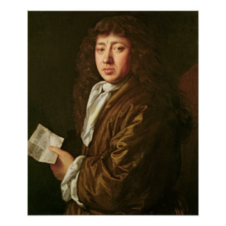 Portrait of Samuel Pepys  1666 Poster
