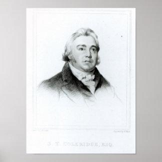 Portrait of Samuel Taylor Coleridge Poster