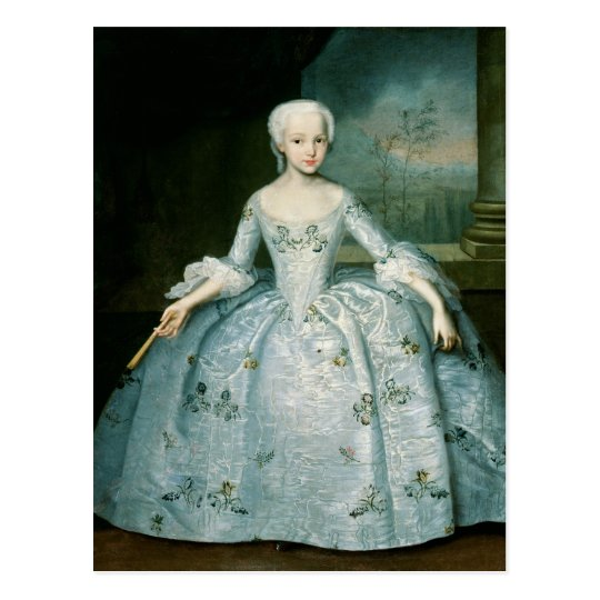 Portrait of Sarah Eleonor Fermor  1749-50 Postcard