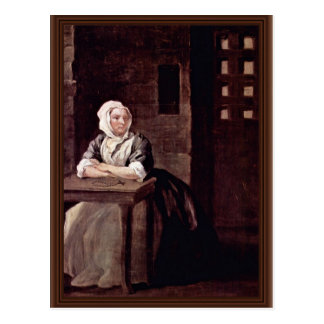 Portrait Of Sarah Macholm In Prison By Hogarth Postcard