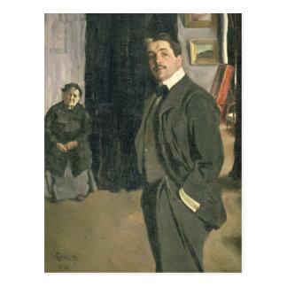 Portrait of Sergei Pavlovich Diaghilev Postcard