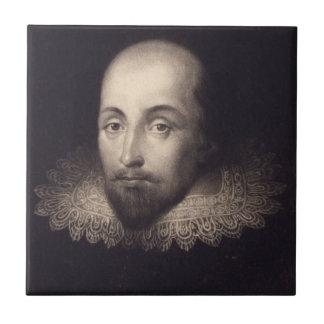 """Portrait of Shakespeare"" ceramic tile"