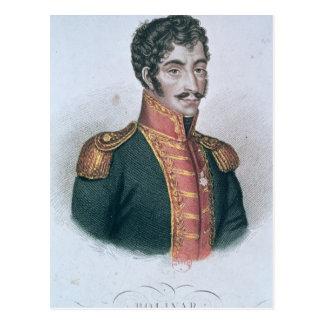 Portrait of Simon Bolivar Postcard
