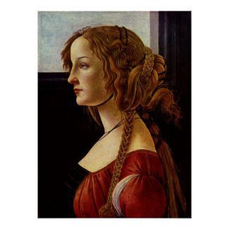 Portrait of Simonetta Vespucci by Botticelli Poster