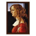 Portrait Of Simonetta Vespucci By Botticelli Sandr Card