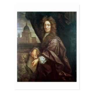 Portrait of Sir Christopher Wren (oil on canvas) Postcard
