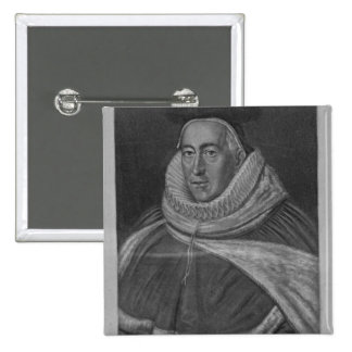 Portrait of Sir Christopher Yelverton 2 Inch Square Button