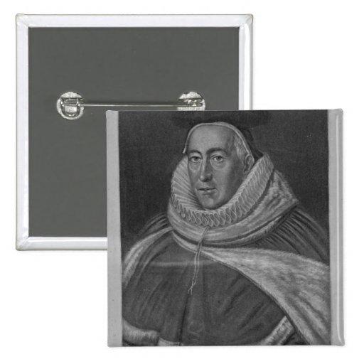 Portrait of Sir Christopher Yelverton Pinback Button