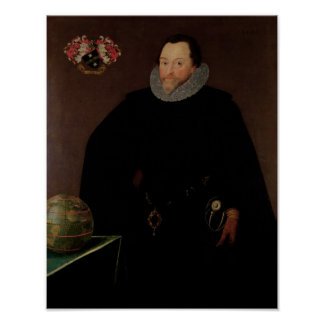 Portrait of Sir Francis Drake  1591 Poster