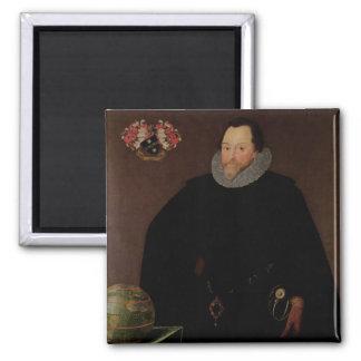 Portrait of Sir Francis Drake  1591 Square Magnet
