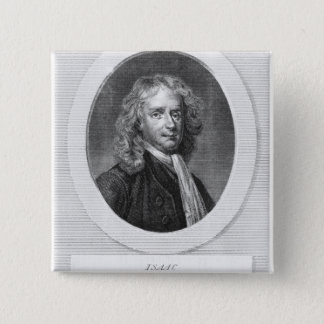 Portrait of Sir Isaac Newton 2 Inch Square Button