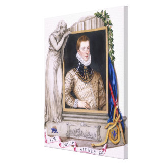 Portrait of Sir Philip Sidney (1554-86) from 'Memo Canvas Print