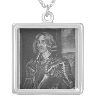 Portrait of Sir Philip Stapleton Silver Plated Necklace