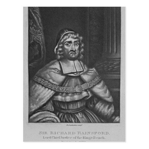 Portrait of Sir Richard Rainsford Postcard