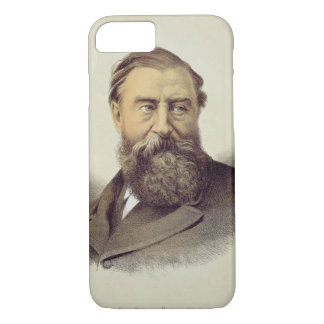 Portrait of Sir Samuel Baker (1821-93) (colour lit iPhone 7 Case