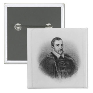Portrait of Sir Thomas Bodley 2 Inch Square Button