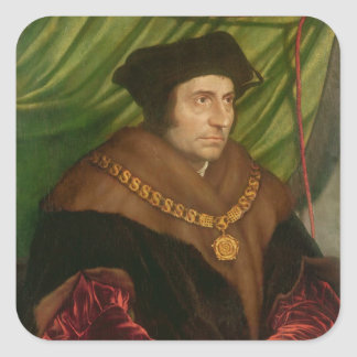 Portrait of Sir Thomas More Square Sticker