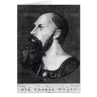 Portrait of Sir Thomas Wyatt Card