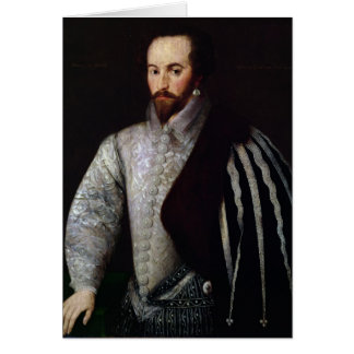 Portrait of Sir Walter Raleigh  1588 Card