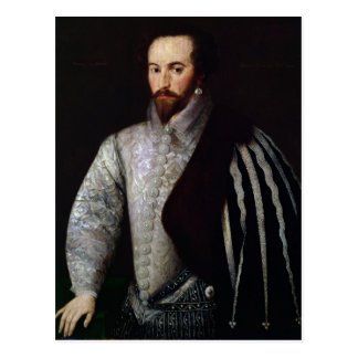 Portrait of Sir Walter Raleigh  1588 Postcard