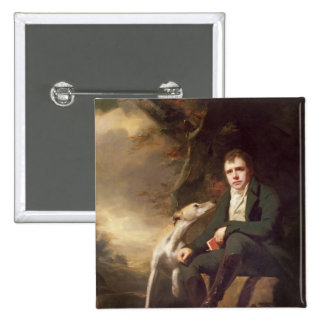 Portrait of Sir Walter Scott and his dogs 2 Inch Square Button