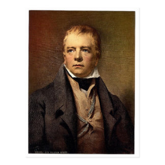 Portrait of Sir Walter Scott classic Photochrom Postcard