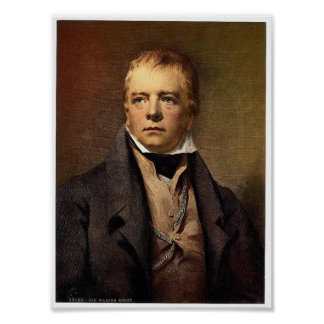 Portrait of Sir Walter Scott classic Photochrom Poster