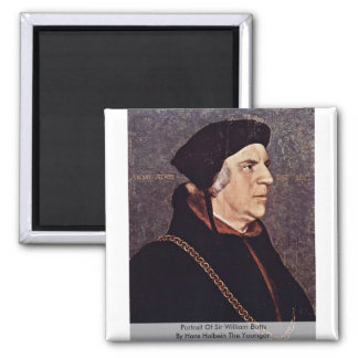 Portrait Of Sir William Butts Square Magnet