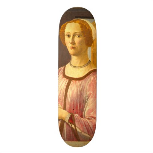 Portrait of Smeralda Bandinelli by Botticelli Skateboard Decks