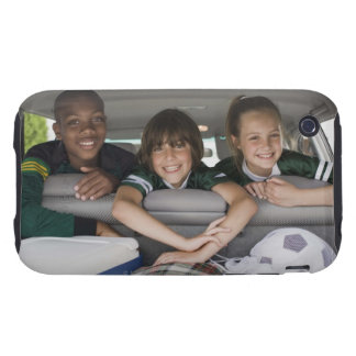 Portrait of smiling children in car tough iPhone 3 cases