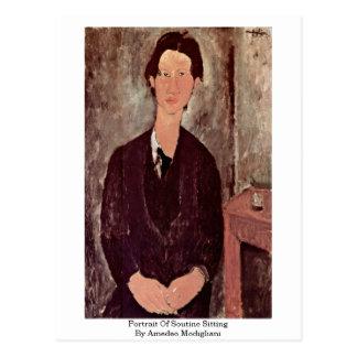 Portrait Of Soutine Sitting By Amedeo Modigliani Postcard