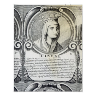 Portrait of St.Jadwiga Poster