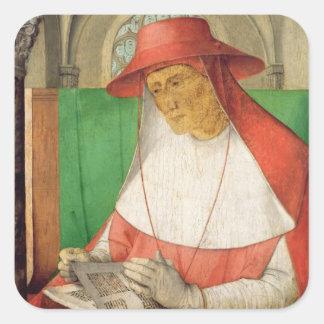 Portrait of St. Jerome  c.1475 Square Sticker