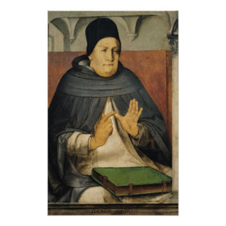 Portrait of St. Thomas Aquinas  c.1475 Poster