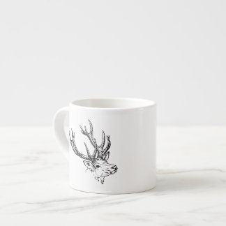 Portrait of Stag Deer Espresso Cup
