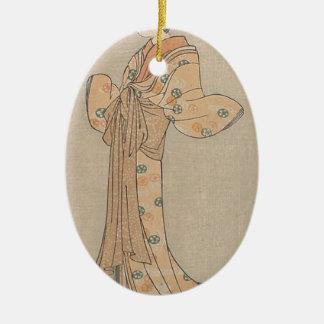 Portrait of the Actor Nakamura Yasio as an Oiran Ceramic Ornament