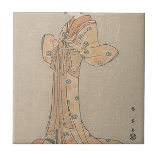 Portrait of the Actor Nakamura Yasio as an Oiran Tile