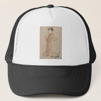 Portrait of the Actor Nakamura Yasio as an Oiran Trucker Hat