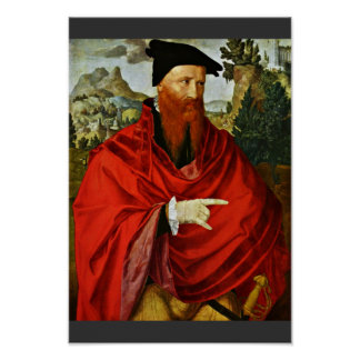 Portrait Of The Anabaptist David Joris By Scorel J Poster
