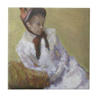 Portrait of the Artist - Mary Cassatt Tile