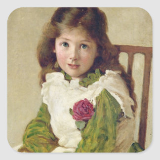 Portrait of the Artist's Daughter (oil on canvas) Stickers