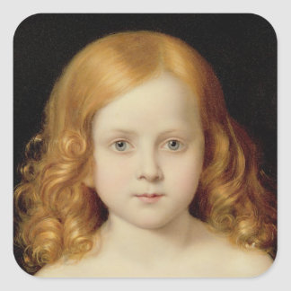 Portrait of the Artist's Daughter Square Stickers