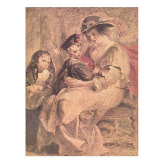 Portrait of the artist's family by Paul Rubens Postcard
